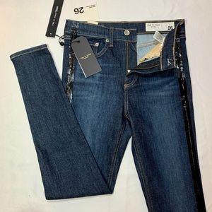 Rag/Bone High Rise Ankle Skinny Jeans Mad Rvr Tux